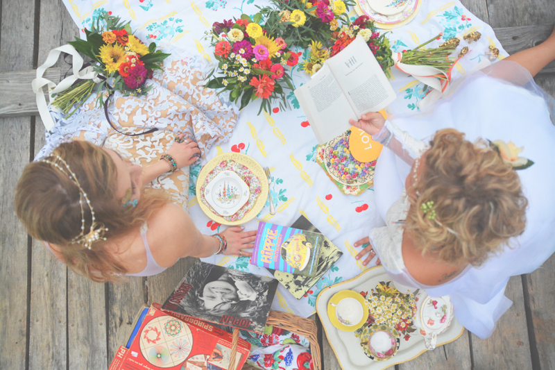 Same Sex Sunflower Field Wedding - Brooke + Cheyenne Elopement Picnic - Six Hearts Photography 13
