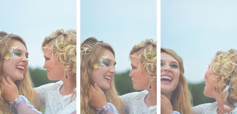 Same Sex Sunflower Field Wedding - Brooke + Cheyenne Elopement Picnic - Six Hearts Photography 16