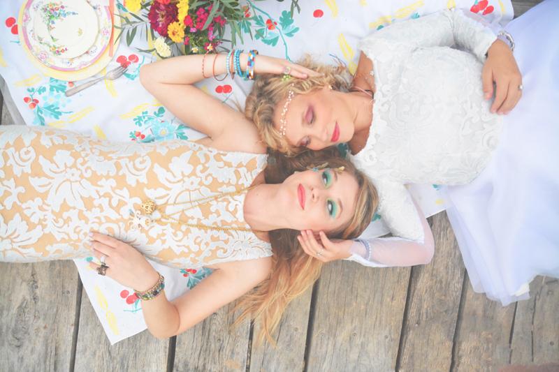Same Sex Sunflower Field Wedding - Brooke + Cheyenne Elopement Picnic - Six Hearts Photography 18