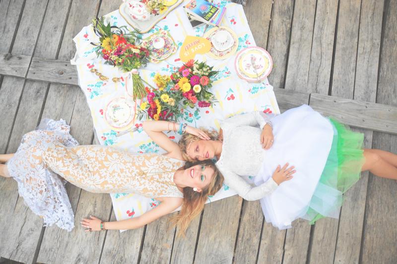 Same Sex Sunflower Field Wedding - Brooke + Cheyenne Elopement Picnic - Six Hearts Photography 19