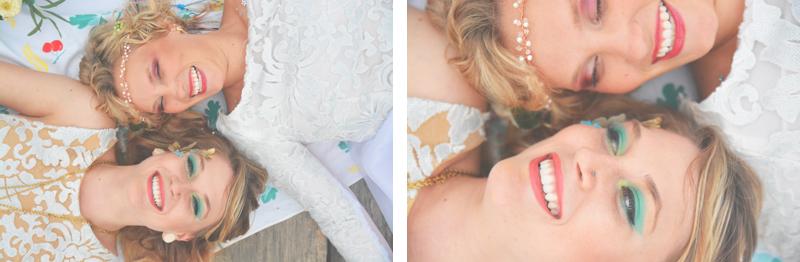 Same Sex Sunflower Field Wedding - Brooke + Cheyenne Elopement Picnic - Six Hearts Photography 23