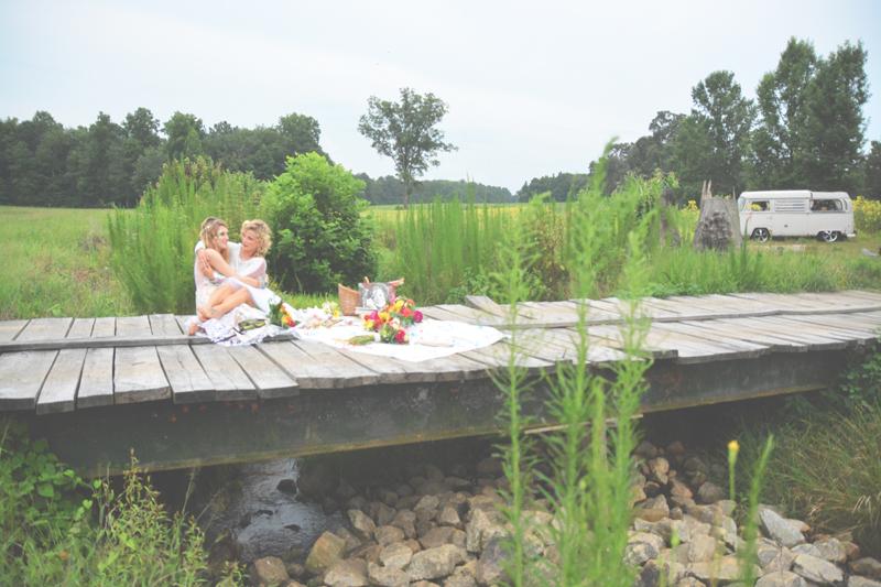 Same Sex Sunflower Field Wedding - Brooke + Cheyenne Elopement Picnic - Six Hearts Photography 25