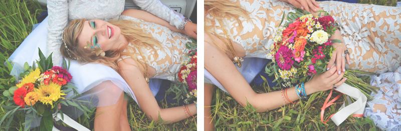 Same Sex Sunflower Field Wedding - Brooke + Cheyenne Elopement Picnic - Six Hearts Photography 34