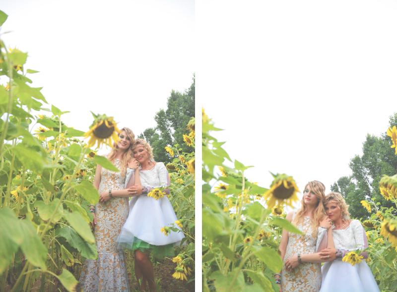 Same Sex Sunflower Field Wedding - Brooke + Cheyenne Elopement Picnic - Six Hearts Photography 50