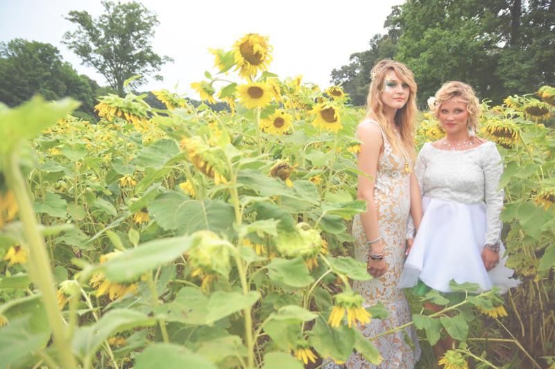 Same Sex Sunflower Field Wedding - Brooke + Cheyenne Elopement Picnic - Six Hearts Photography 51