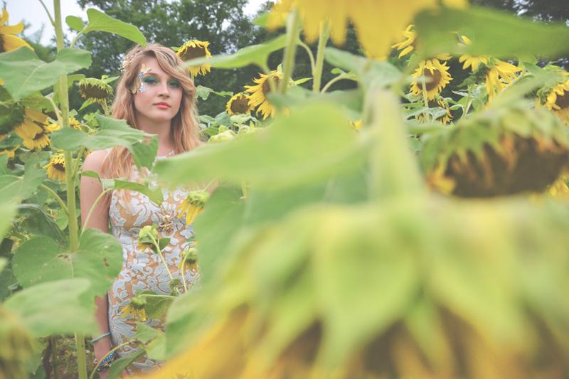 Same Sex Sunflower Field Wedding - Brooke + Cheyenne Elopement Picnic - Six Hearts Photography 53