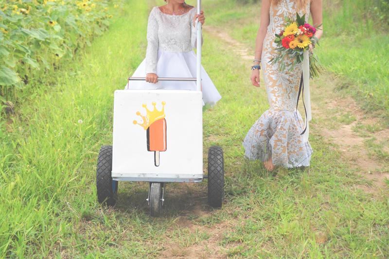 Same Sex Sunflower Field Wedding - Brooke + Cheyenne Elopement Picnic - Six Hearts Photography 56