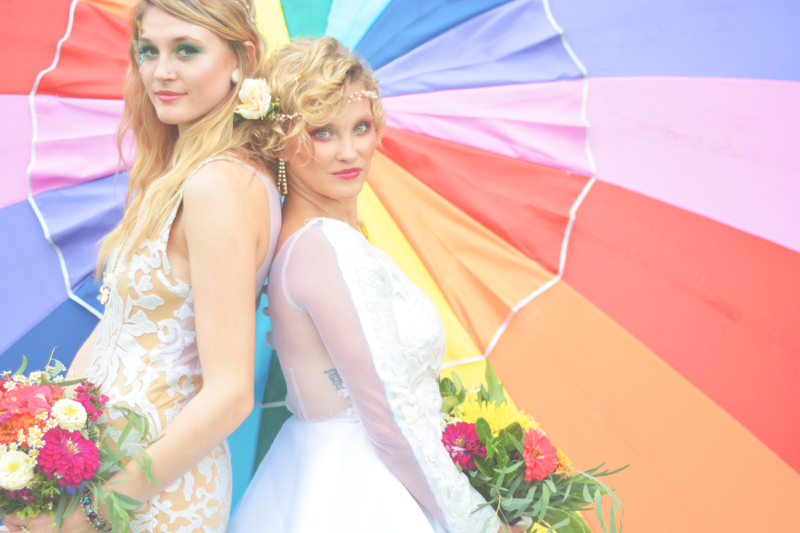 Same Sex Sunflower Field Wedding - Brooke + Cheyenne Elopement Picnic - Six Hearts Photography 57