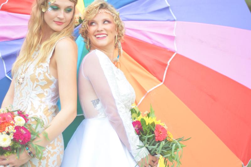 Same Sex Sunflower Field Wedding - Brooke + Cheyenne Elopement Picnic - Six Hearts Photography 58