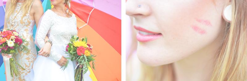Same Sex Sunflower Field Wedding - Brooke + Cheyenne Elopement Picnic - Six Hearts Photography 59