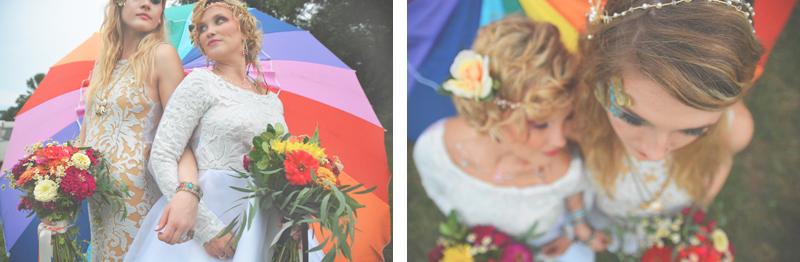 Same Sex Sunflower Field Wedding - Brooke + Cheyenne Elopement Picnic - Six Hearts Photography 66