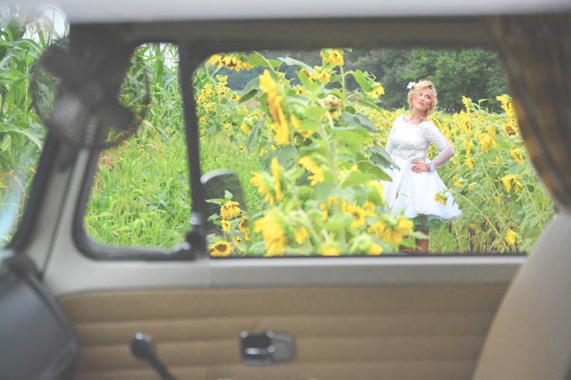 Same Sex Sunflower Field Wedding - Brooke + Cheyenne Elopement Picnic - Six Hearts Photography 67