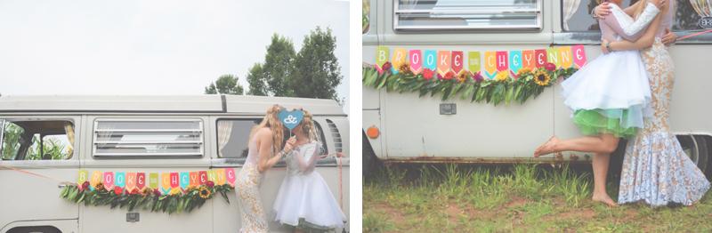 Same Sex Sunflower Field Wedding - Brooke + Cheyenne Elopement Picnic - Six Hearts Photography 77