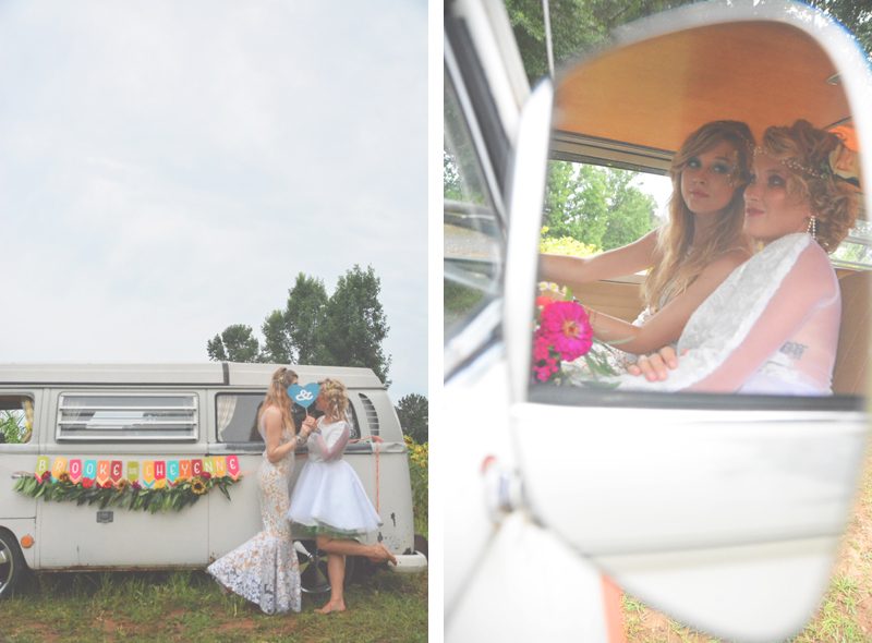 Same Sex Sunflower Field Wedding - Brooke + Cheyenne Elopement Picnic - Six Hearts Photography 79