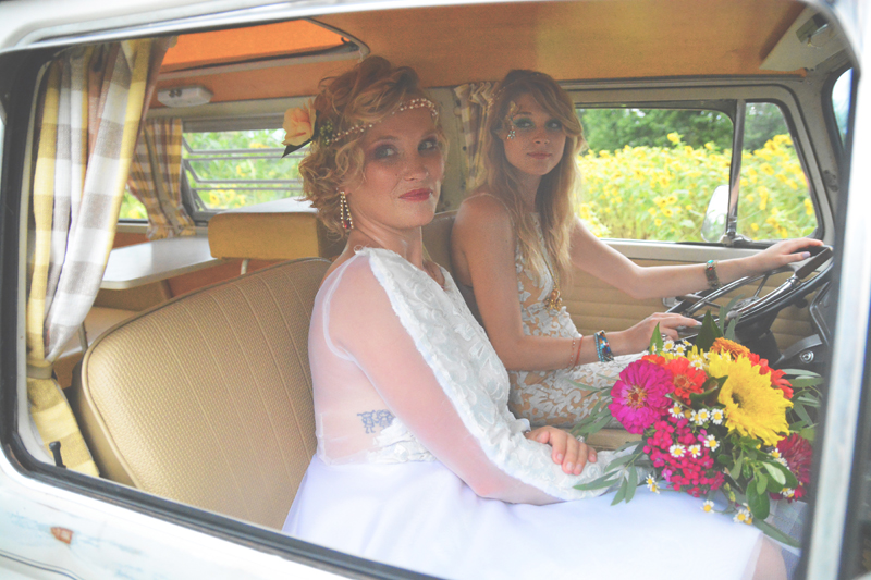 Same Sex Sunflower Field Wedding - Brooke + Cheyenne Elopement Picnic - Six Hearts Photography 80