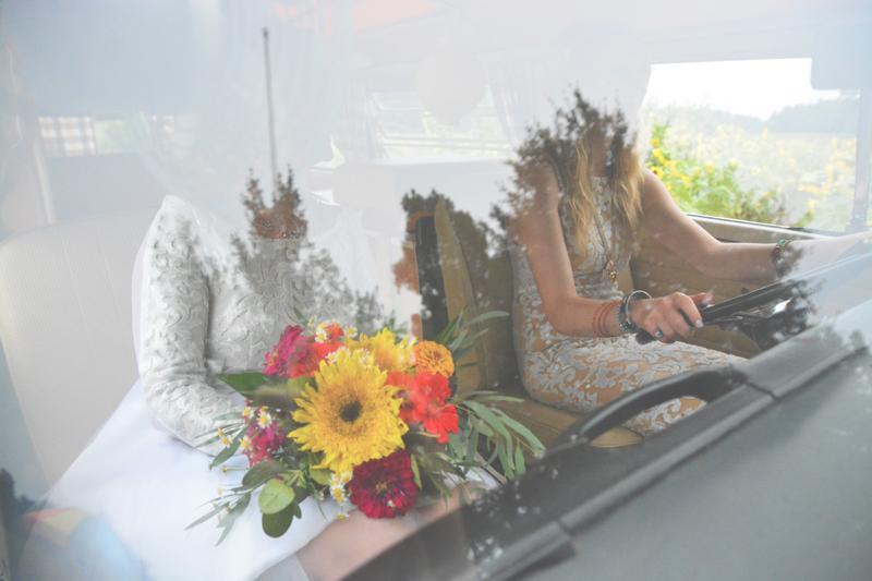 Same Sex Sunflower Field Wedding - Brooke + Cheyenne Elopement Picnic - Six Hearts Photography 82