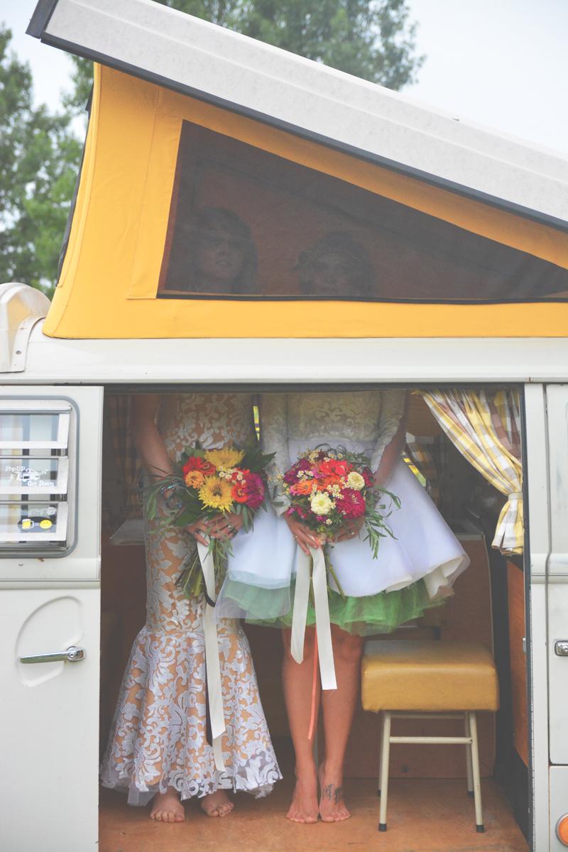 Same Sex Sunflower Field Wedding - Brooke + Cheyenne Elopement Picnic - Six Hearts Photography 83