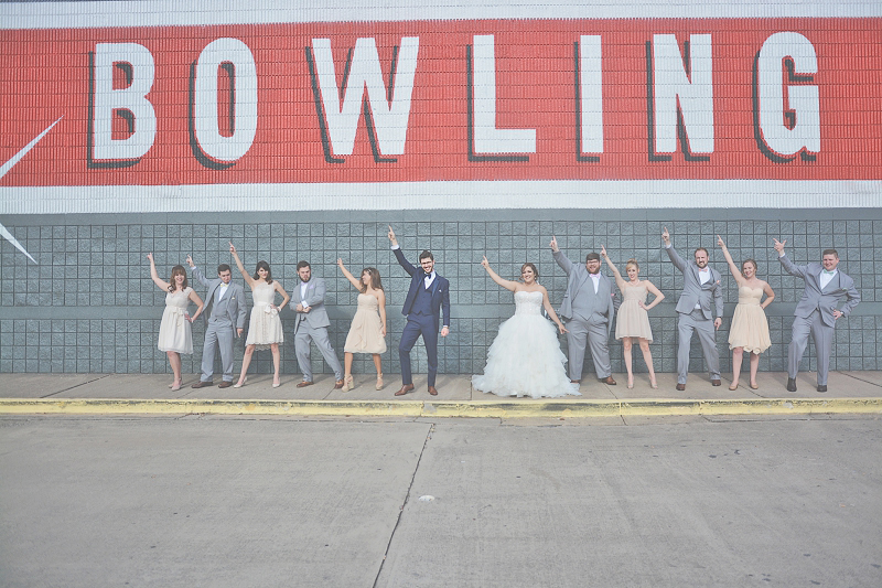 Atlanta Bowling Alley Wedding - Six Hearts Photography 003