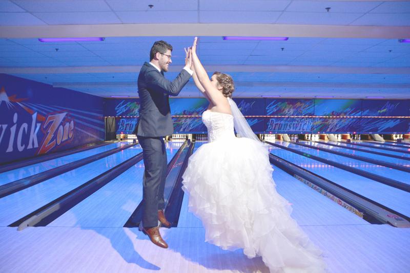 Atlanta Bowling Alley Wedding - Six Hearts Photography 005